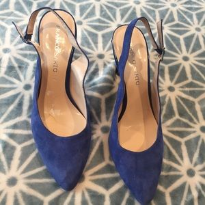 Franco Sarto heels royal blue size 9